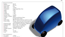 Gordon Murrays  T.27 City Car technical specifcations