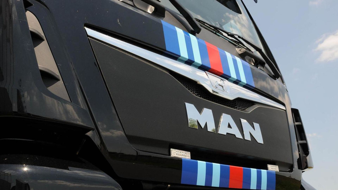 Porsche-Martini themed MAN TGX