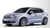 Fiat 500 Plus rendered as a Punto successor