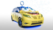 Toyota unveils a SpongeBob themed Sienna for the L.A. Auto Show