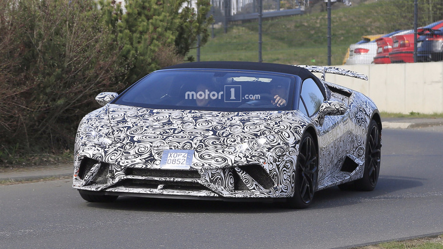 Lamborghini Huracán Performante Spyder 2018: fotos espía
