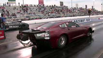 4,000 horsepower Corvette dragster flies after 200 mph wheelie