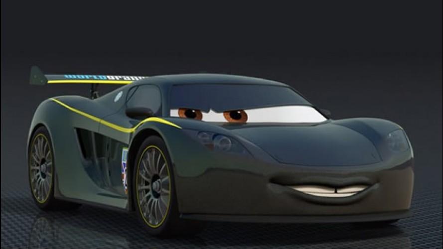 Lewis Hamilton vira desenho animado em Carros 2