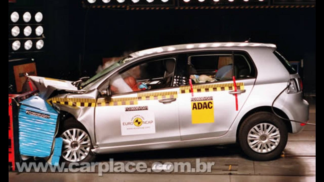 Veja vídeo do crash test do Novo Golf VI - Hatch obteve 5 estrelas da EuroNCAP