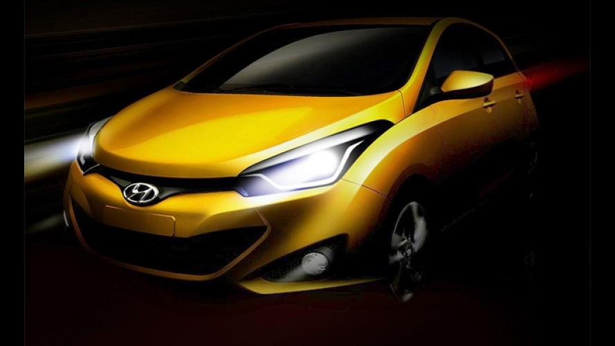 Hyundai mostra mais detalhes do hatch compacto HB20 em novo teaser