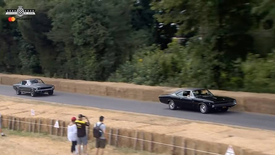 Mustang And Charger Recreate Classic Bullitt Chase At Goodwood