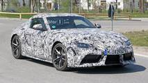 Toyota Supra with production wheels spy photos
