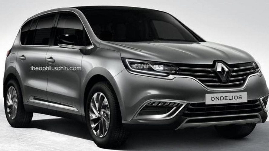Renault Ondelios rendered as a future flagship SUV