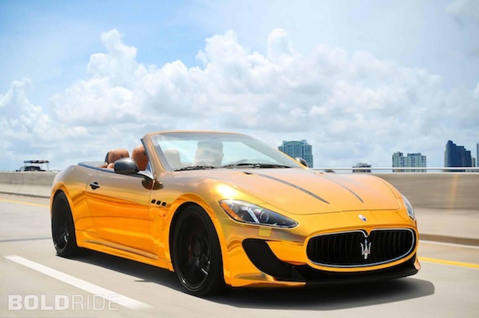 Gold Chrome Paint Cars