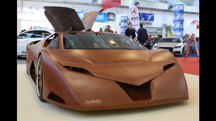 Der 600-PS-Sportwagen … aus Holz
