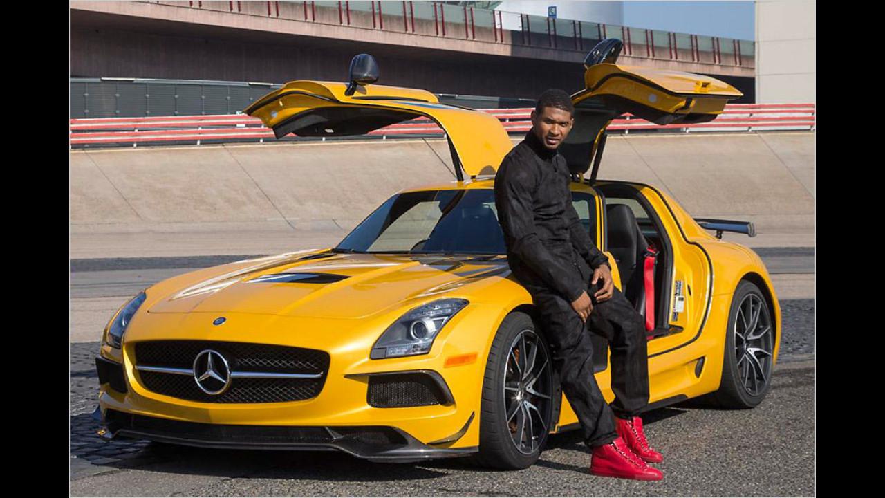 Usher: Mercedes SLS AMG