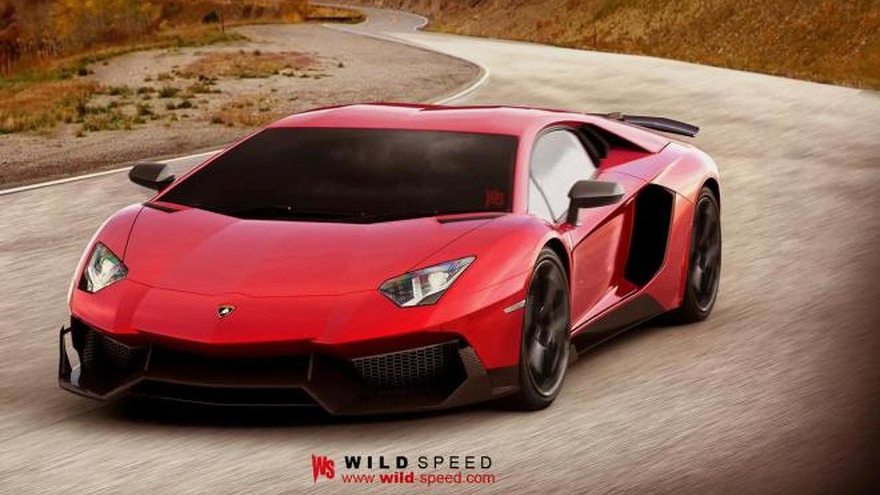 Lamborghini Aventador Super Voloce artists renderin