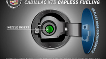 Cadillac XTS capless fueling system 24.04.2012