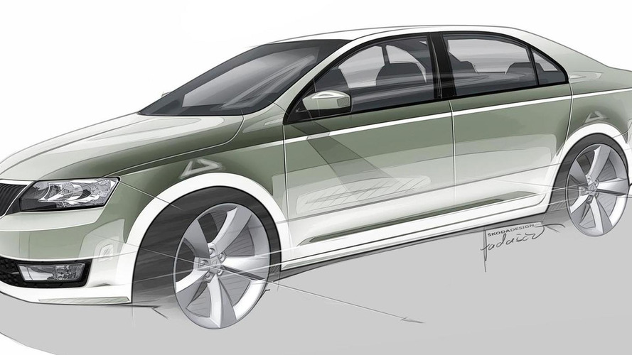 Skoda Rapid production version previewed in sketches