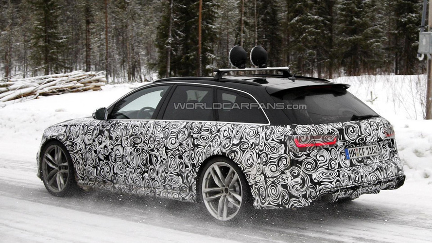 Audi A6 and RS6 Avant facelifts spied testing together