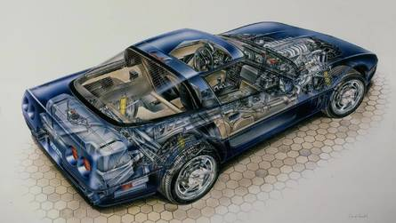 Corvette ZR-1 Kimble Cutaway: America's First Mainstream Supercar