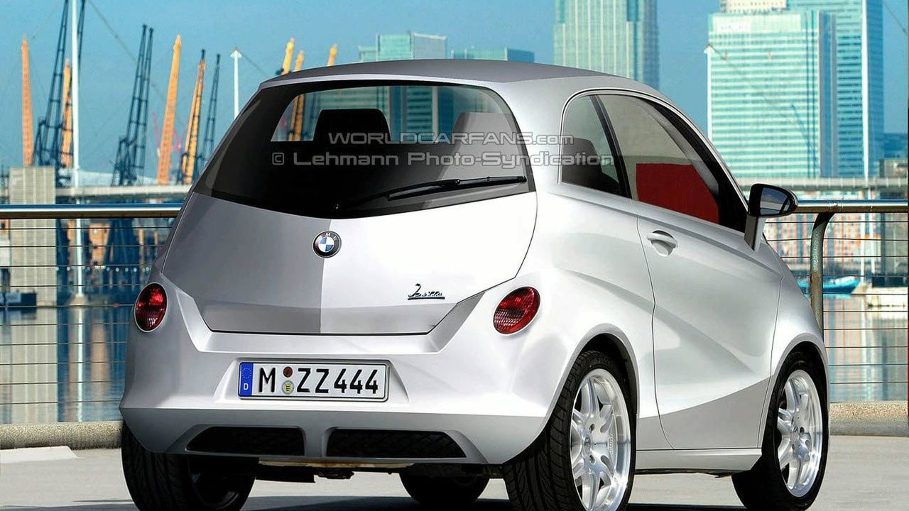 BMW city car rendering