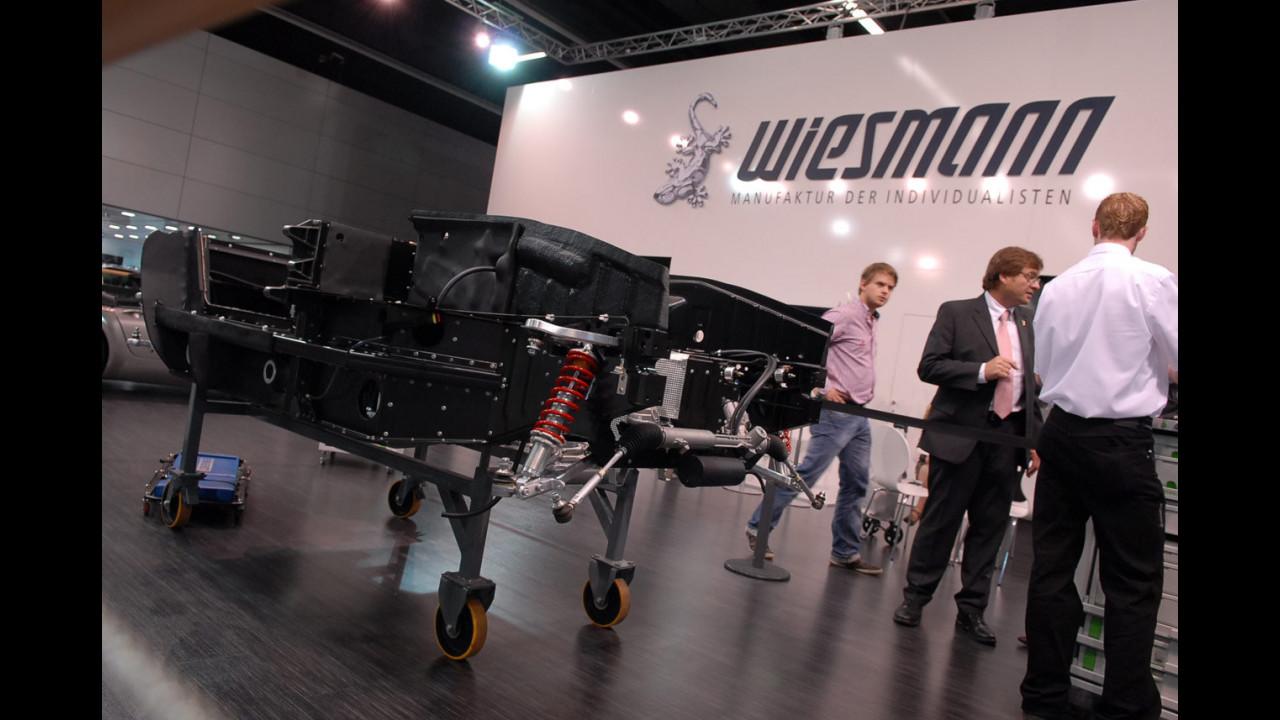 Una Wiesmann MF4 GT costruita in diretta a Francoforte 2009