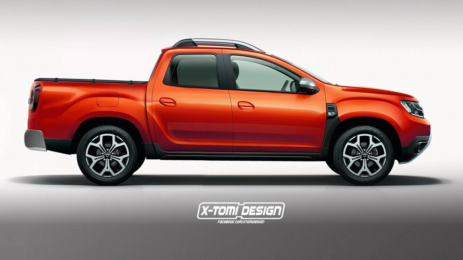 2018 dacia duster rendered as pickup gt and three door version. Black Bedroom Furniture Sets. Home Design Ideas