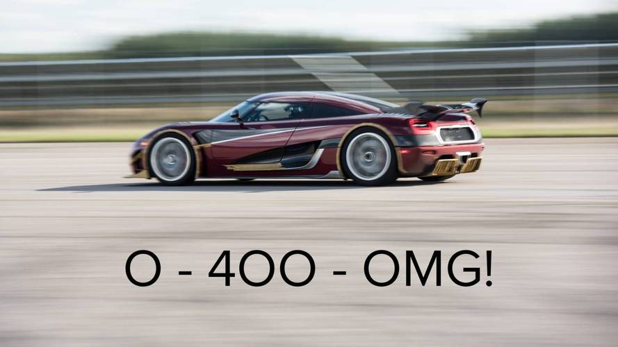 Koenigsegg Agera RS Goes 0-249-0 In 36.44 seconds, Beats Chiron