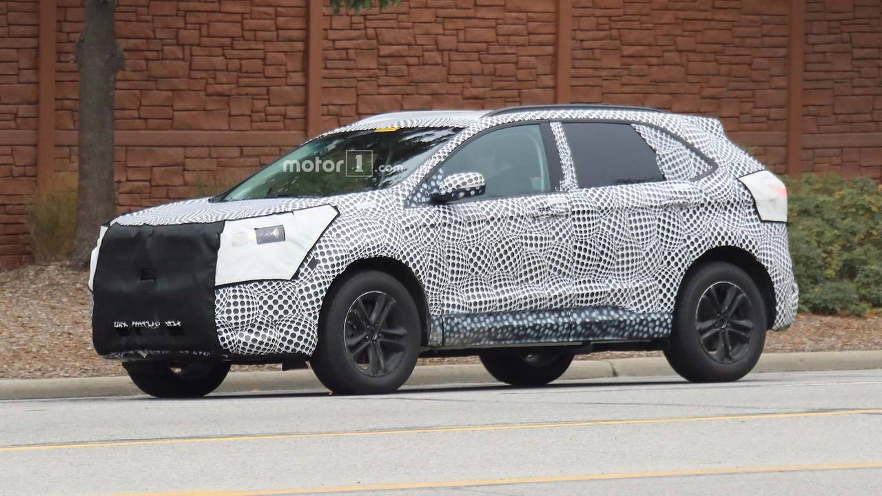 2019 ford edge spied showing off new details. Black Bedroom Furniture Sets. Home Design Ideas
