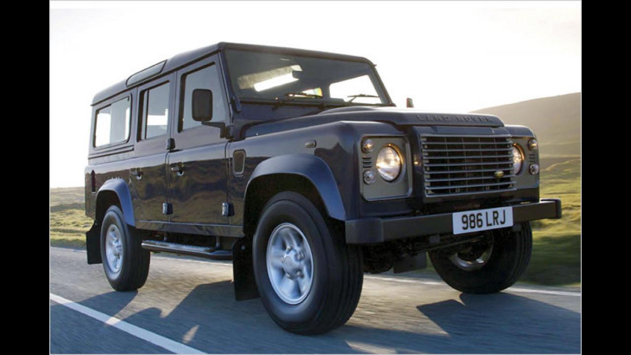 Höchstes Auto: Land Rover Defender Station Wagon 110 Td4 SE
