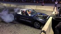 V8 Mazda Miata Burnout Explosion