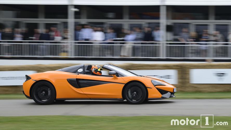 McLaren 570S Spider Makes High-Speed Public Debut At Goodwood