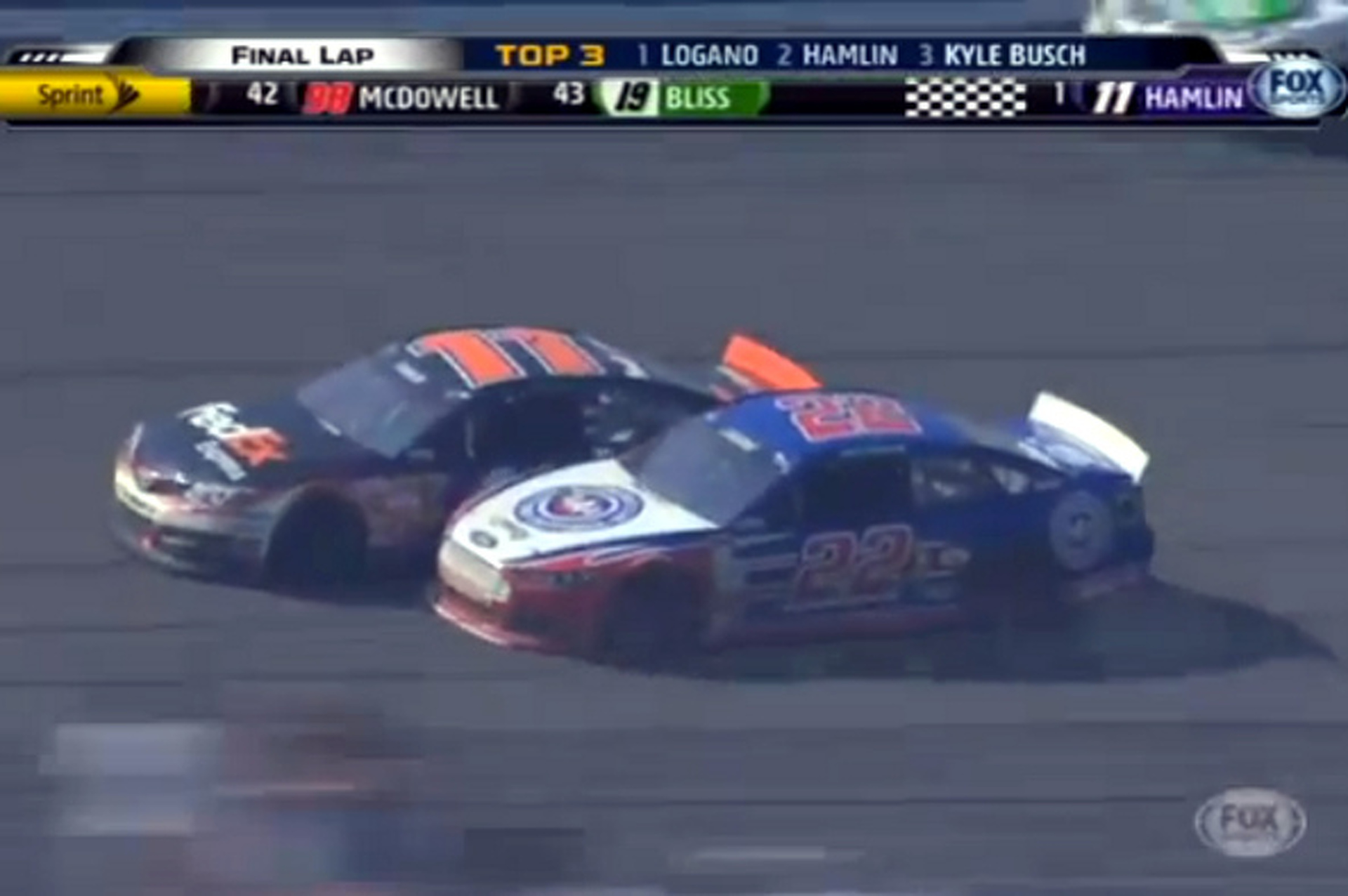 Video: Auto Club 400 Finish Features Crashes, Fights