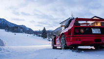 Ferrari F40 tackles a ski slope