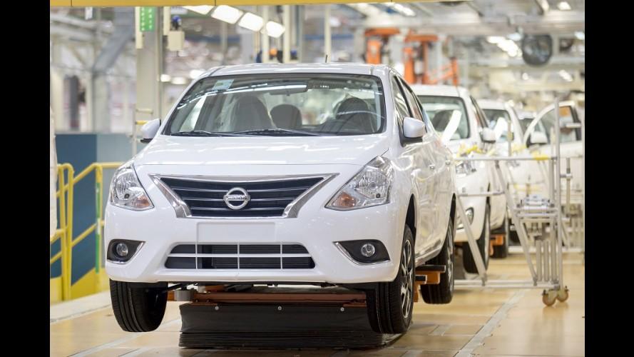 Nissan inicia produção do Versa com motor 1.0 de três cilindros no Brasil