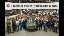 Fiat ultrapassa a marca de 5 milhões de carros flex no Brasil