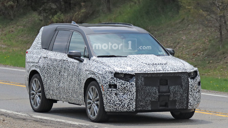 Cadillac XT6 Spied Still Covered In Thick Camo
