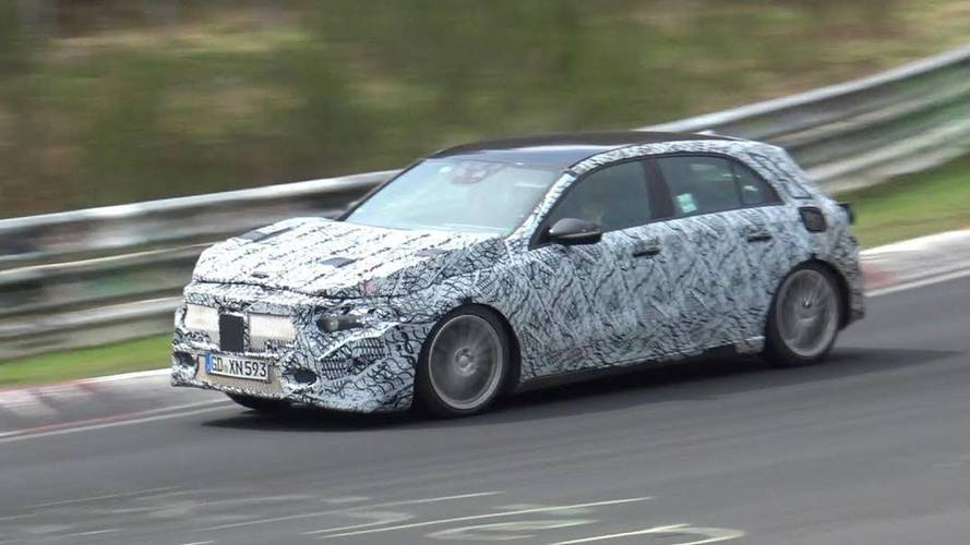 New Mercedes GLA Spied While Being Pushed Hard At The Nurburgring