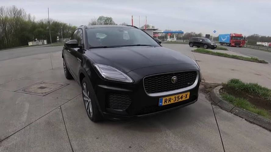 Jaguar E-Pace'i hızlanma testinde izleyin