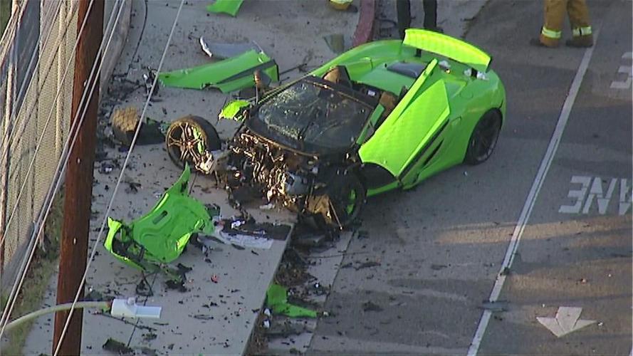 Une McLaren 650S Spider complètement détruite dans la Cité des Anges