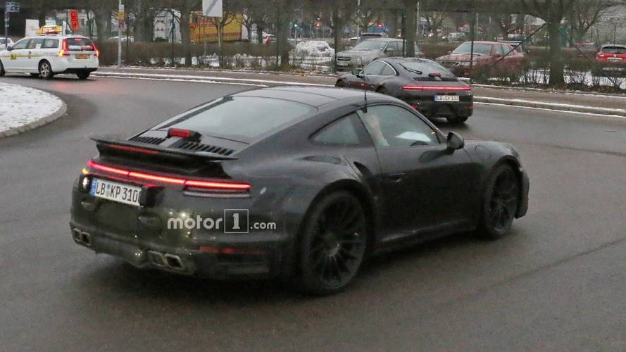 Next-gen Porsche 911 Turbo Spied With Fixed Rear Wing