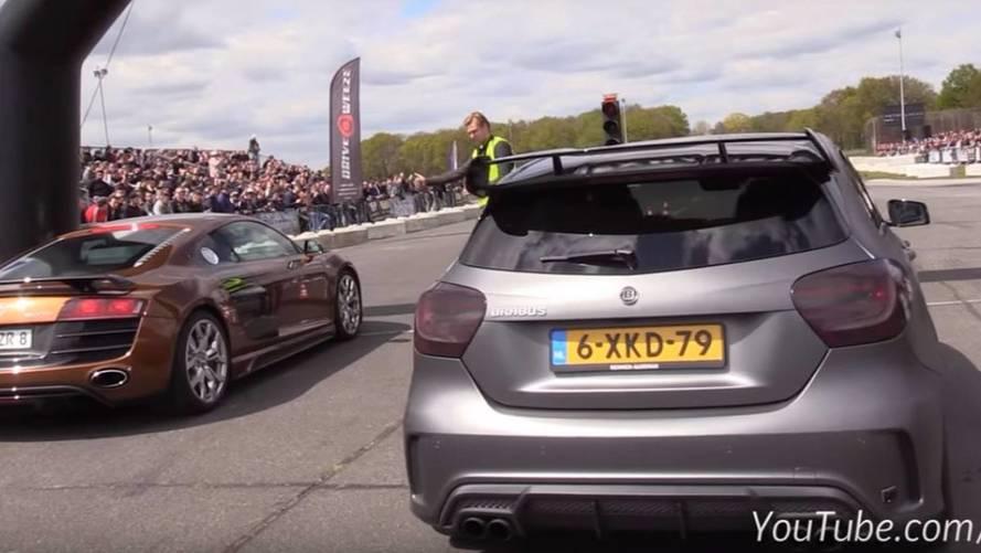 Mercedes-AMG A45 Brabus, Audi R8 ve Nissan GT-R'a karşı