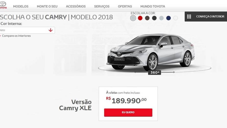 Novo Toyota Camry começa a ser vendido no Brasil por R$ 189.990