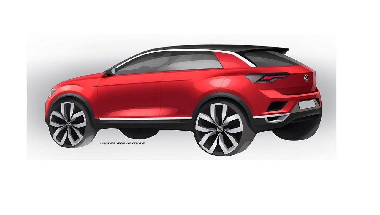 2018 VW T-Roc teaser sketch
