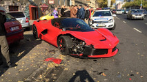 LaFerrari accident in Bupdapest