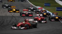 Felipe Massa (BRA), Scuderia Ferrari leads the start of the race - Formula 1 World Championship, Rd 11, German Grand Prix