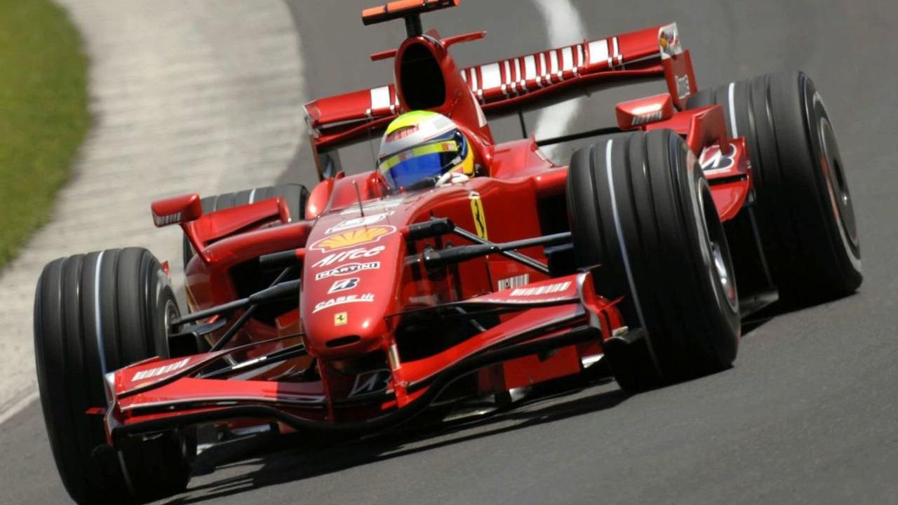 Felipe Massa driving Ferrari's F2007 F1 Car