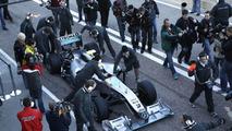 Mercedes GP W01 car launch, Michael Schumacher (GER), Valencia, Spain, 01.02.2010