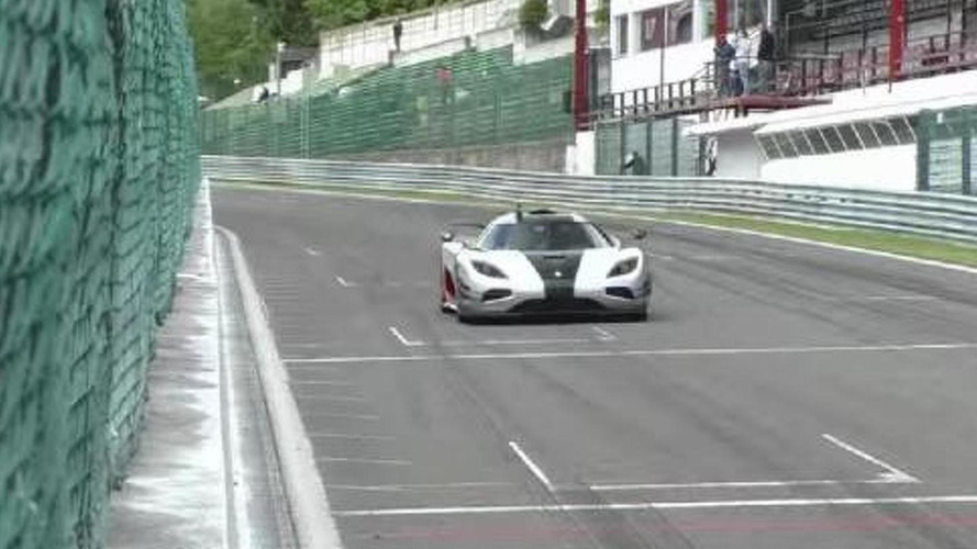 Adrian Sutil tackles Spa in the Koenigsegg One:1