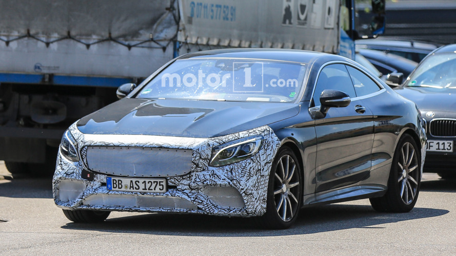 Mercedes-AMG S63 Coupe testing with GT R-inspired face