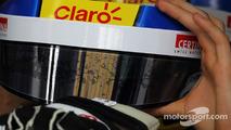 Esteban Gutierrez, Sauber helmet visor strip