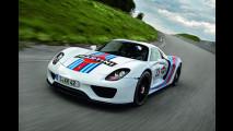Porsche 918 Spyder, al Nurburgring in livrea Martini Racing