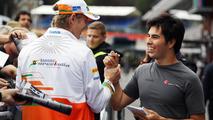 Nico Hulkenberg and Sergio Perez 30.08.2012 Belgian Grand Prix