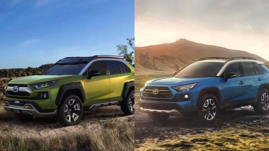 Comparativa: Toyota RAV4 2018 frente al prototipo FT-AC